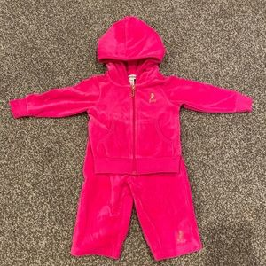 Hot pink Juicy Couture velour tracksuit.